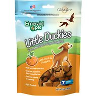 Emerald Pet Little Duckies with Duck & Pumpkin Dog Treats, 5-oz bag