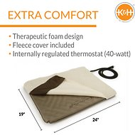 K&H Pet Products Lectro-Soft Outdoor Heated Pet Bed, Medium