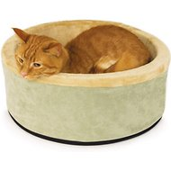 K&H Pet Products Thermo-Kitty Cat Bed, Sage, Small