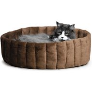 K&H Pet Products Lazy Cup Cat Bed, Tan/Mocha, Large