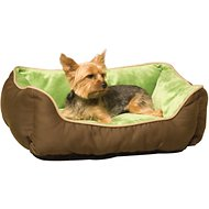 K&H Pet Products Self-Warming Two Tone Lounge Sleeper Pet Bed, Mocha/Green