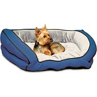 K&H Pet Products Bolster Couch Pet Bed, Blue/Grey, Small