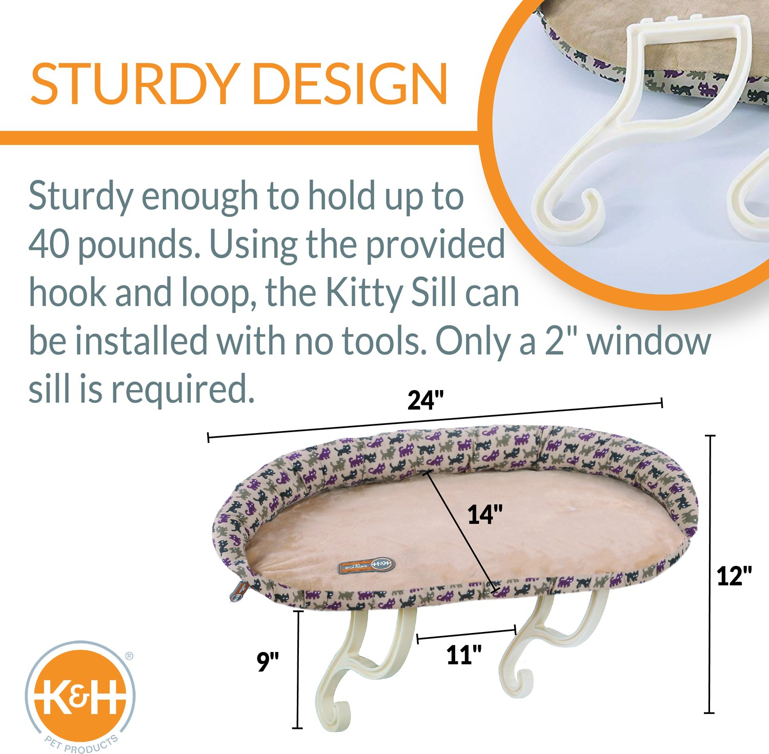 K&H Pet Products Deluxe Kitty Sill Cat Window Perch By K&H Pet Products