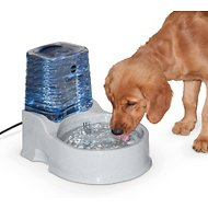K&H Pet Products CleanFlow Filtered Water Bowl with Reservoir for Dogs, Medium