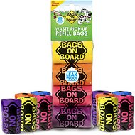Bags on Board Bag Refill Pack, Rainbow, 60 count