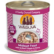 Weruva Mideast Feast with Grilled Tilapia in Gravy Grain-Free Canned Cat Food, 10-oz, case of 12