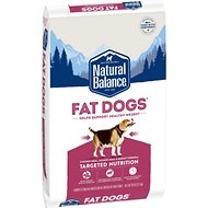 Natural Balance Fat Dogs Chicken & Salmon Formula Low Calorie Dry Dog Food