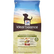 Hill's Ideal Balance Natural Chicken & Brown Rice Recipe Adult Dry Dog Food, 15-lb bag