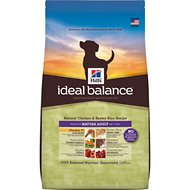 Hill's Ideal Balance Natural Chicken & Brown Rice Recipe Mature Adult Dry Dog Food, 30-lb bag