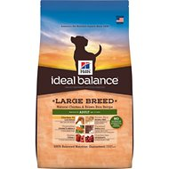 Hill's Ideal Balance Large Breed Natural Chicken & Brown Rice Recipe Adult Dry Dog Food, 30-lb bag