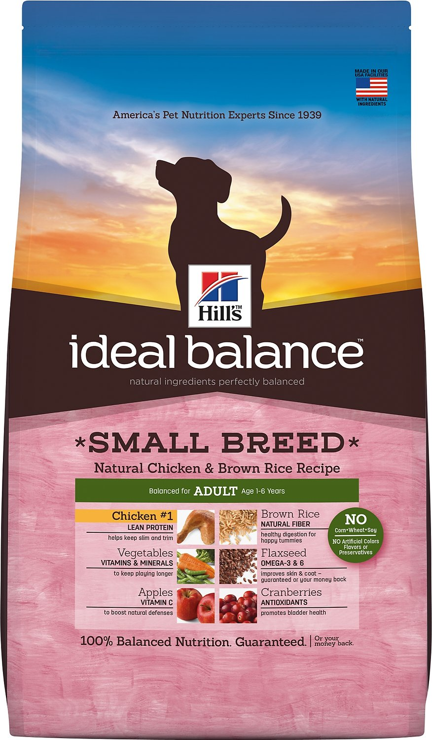 Ideal Balance Dog Food >> Hill S Ideal Balance Small Breed Natural Chicken Brown Rice Recipe Adult Dry Dog Food 4 Lb Bag