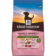Hill's Ideal Balance Small Breed Natural Chicken & Brown Rice Recipe Adult Dry Dog Food, 4-lb bag