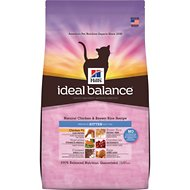 Hill's Ideal Balance Natural Chicken & Brown Rice Recipe Kitten Dry Cat Food, 6-lb bag