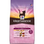 Hill's Ideal Balance Natural Chicken & Brown Rice Recipe Adult Dry Cat Food, 3.5-lb bag