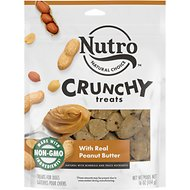 Nutro Crunchy Real Peanut Butter Dog Treats, 16-oz bag