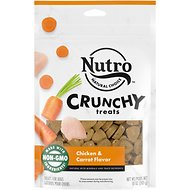 Nutro Crunchy Chicken & Carrot Flavor Dog Treats, 10-oz bag