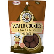 Exclusively Dog Wafer Cookies Carob Flavor Dog Treats, 6-oz bag