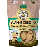 Exclusively Dog Wafer Cookies Peanut Butter Flavor Dog Treats, 6-oz bag
