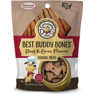 Exclusively Dog Best Buddy Bones Beef & Liver Flavor Dog Treats, 5.5-oz bag