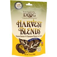 Exclusively Dog Harvest Blends Peanut Butter N' Banana Flavor Dog Treats, 7-oz bag