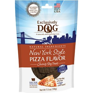 Exclusively Dog New York Style Pizza Flavor Dog Treats, 7-oz bag
