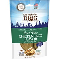 Exclusively Dog Tex Mex Chicken Taco Flavor Dog Treats, 7-oz bag
