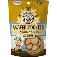 Exclusively Dog Wafer Cookies Vanilla Flavor Dog Treats, 6-oz bag