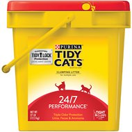 Tidy Cats 24/7 Performance Continuous Odor Control Cat Litter, 27-lb pail