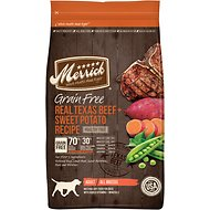 Merrick Grain-Free Real Texas Beef & Sweet Potato Recipe Dry Dog Food, 25-lb bag