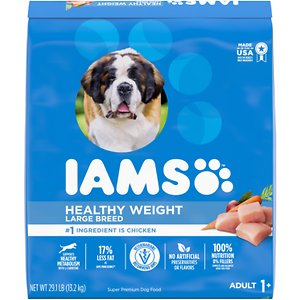 Iams ProActive Health Adult Healthy Weight Large Breed Dry Dog Food, 29.1-lb bag