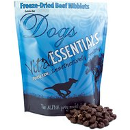 Vital Essentials Beef Entree Nibblets Grain-Free Freeze-Dried Dog Food, 1-lb bag