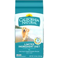 California Natural Adult Limited Ingredient Herring & Sweet Potato Recipe Dog Food, 4.5-lb bag