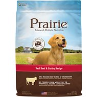Nature's Variety Prairie Real Beef & Barley Recipe Natural Dry Dog Food, 27-lb bag