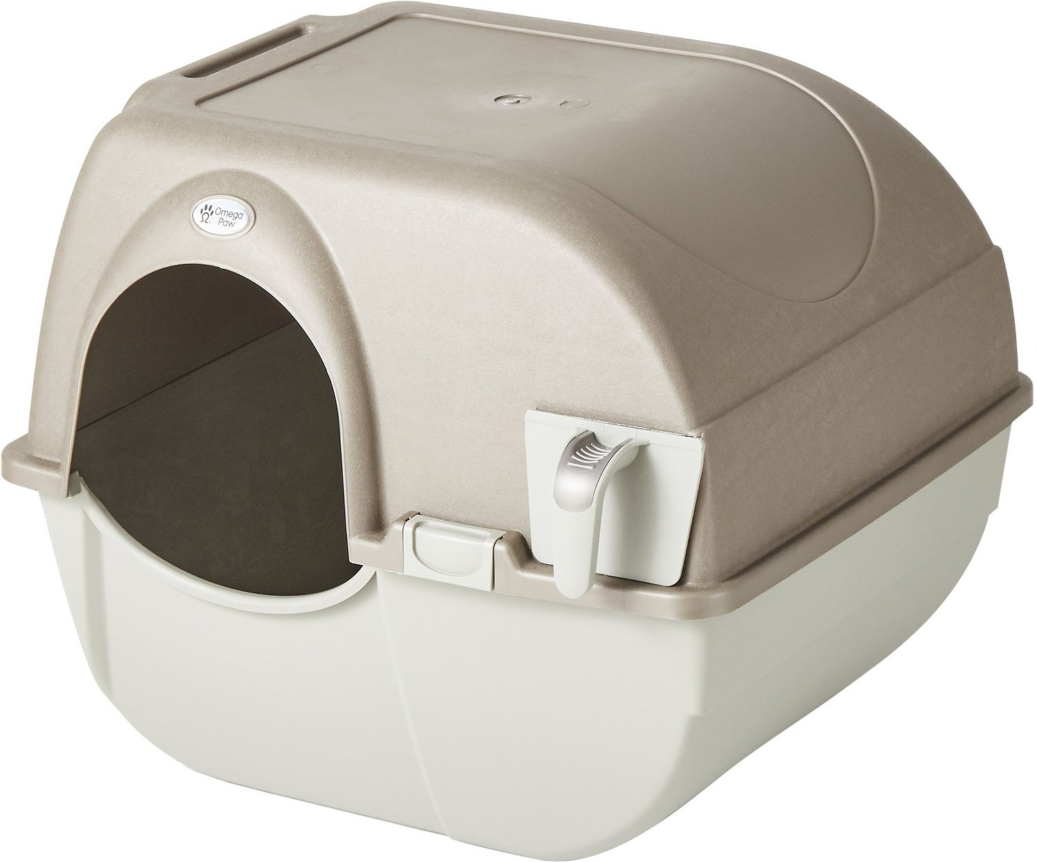 Omega Paw Roll N Clean Cat Litter Box Large Chewy Com