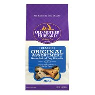 Old Mother Hubbard Classic Original Assortment Biscuits Baked Dog Treats, Mini, 5-oz bag