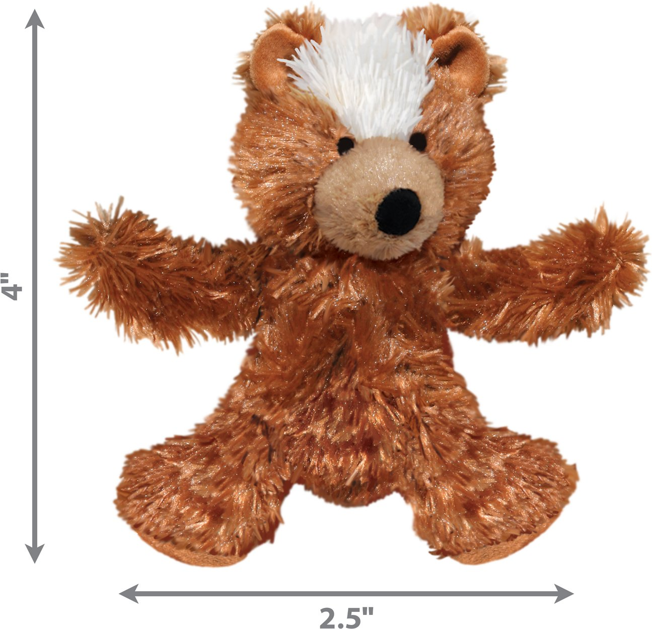 Kong Plush Teddy Bear Dog Toy X Small Chewy Com
