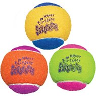 KONG Squeakair Birthday Balls Dog Toy, Color Varies, 2.5-in, 3-pack