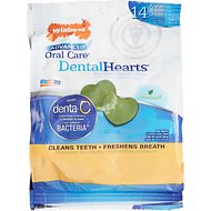 Nylabone Advanced Oral Care Dental Heart Dog Treats, 14 chews