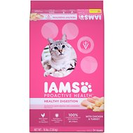 Iams ProActive Health Adult Healthy Digestion Dry Cat Food, 16-lb bag