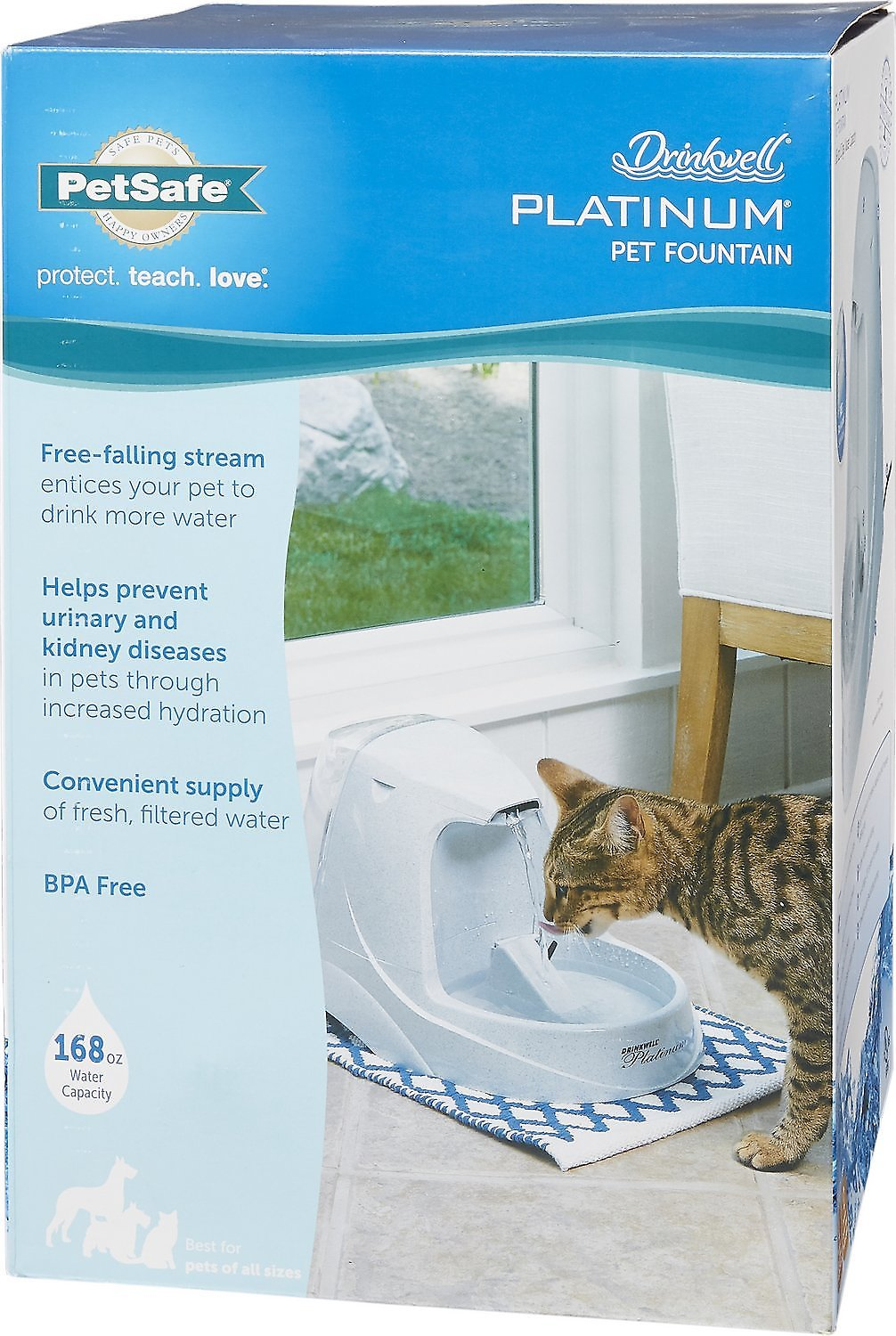 Fresh Water Drinking Fountain For Cats And Small Dogs Bowl Elegant And Sturdy Package Pet Supplies