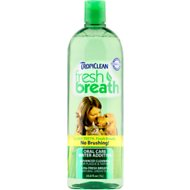 TropiClean Fresh Breath Water Additive For Cats & Dogs, 33.8-oz bottle