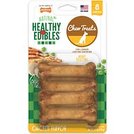 Nylabone Healthy Edibles Longer Lasting Chicken Flavor Dog Bone Treats, Petite bone chews, 8 count