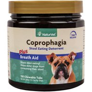 NaturVet Coprophagia Stool Eating Deterrent Dog Tablets, 130 count