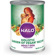 Halo Holistic Garden of Vegan Recipe Adult Canned Dog Food, 13-oz, case of 12