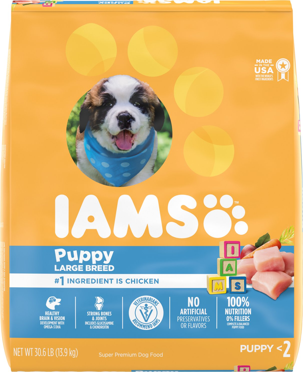 Iams Proactive Health Smart Puppy Large Breed Dry Dog Food 30 6 Lb