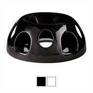 Pioneer Pet Ceramic Portion Control Food Dish, Black