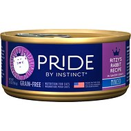 Nature's Variety Pride by Instinct Grain-Free Minced Ritzy's Rabbit Recipe Wet Canned Cat Food, 5.5-oz, case of 12