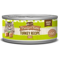 Merrick Purrfect Bistro Grain-Free Turkey Pate Canned Cat Food, 5.5-oz, case of 24