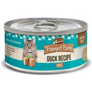 Merrick Purrfect Bistro Grain-Free Duck Pate Canned Cat Food, 3-oz, case of 24