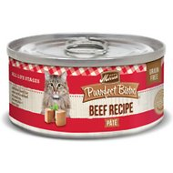 Merrick Purrfect Bistro Grain-Free Beef Pate Canned Cat Food, 3-oz, case of 24